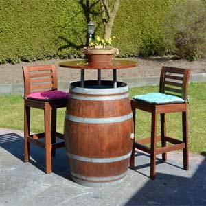 DIY bartafel wijnvat